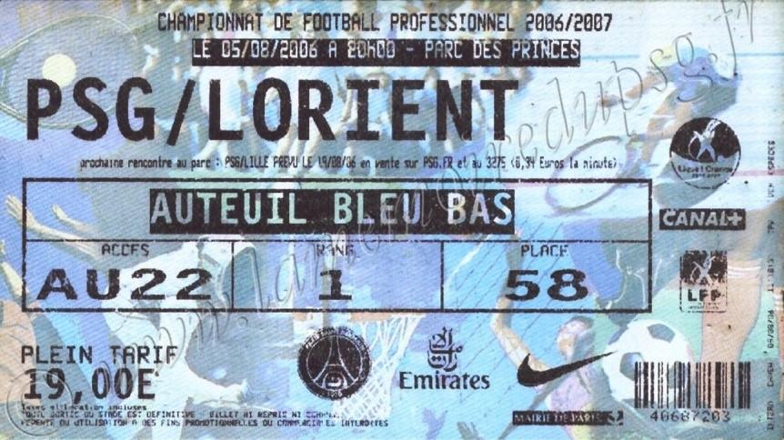 2006-08-05  PSG-Lorient (1ère L1, ter)