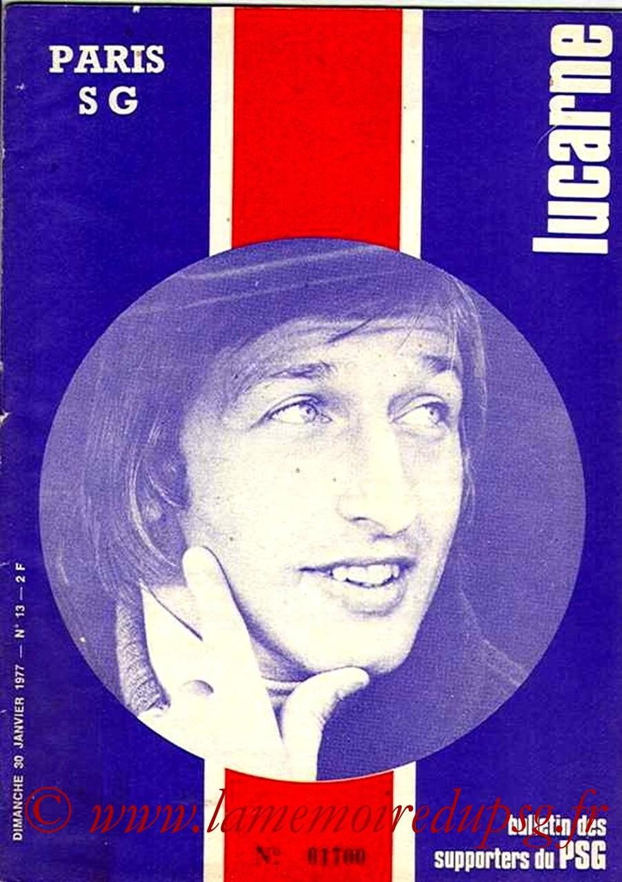 1977-01-30  PSG-Nimes (23ème D1, Lucarne N°13)