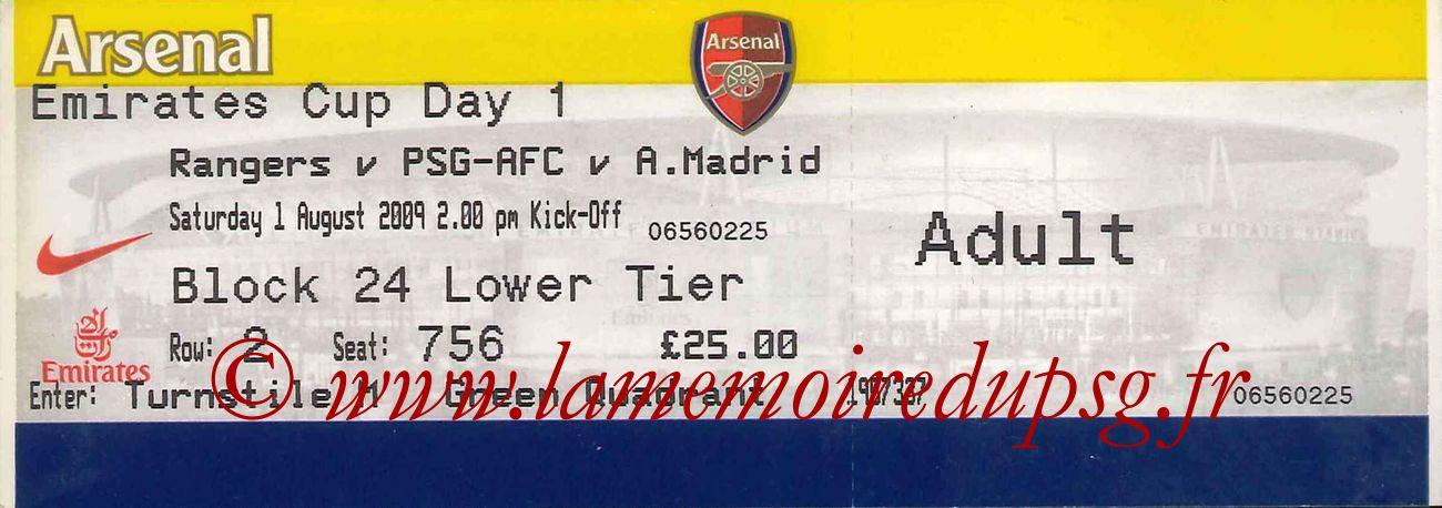 2009-08-01  Rangers-PSG (Emirates Cup, 1ère journée)