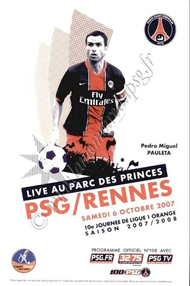 2007-10-06  PSG-Rennes (10ème L1, Officiel PSG N°108)