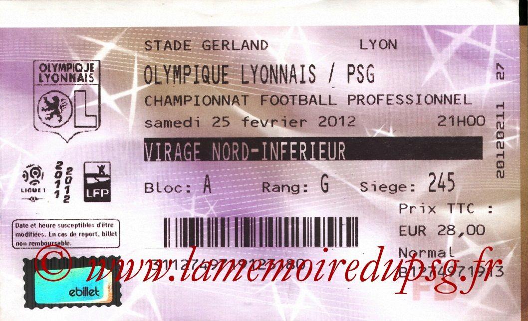 2012-02-25  Lyon-PSG (25ème L1, Francebillet)