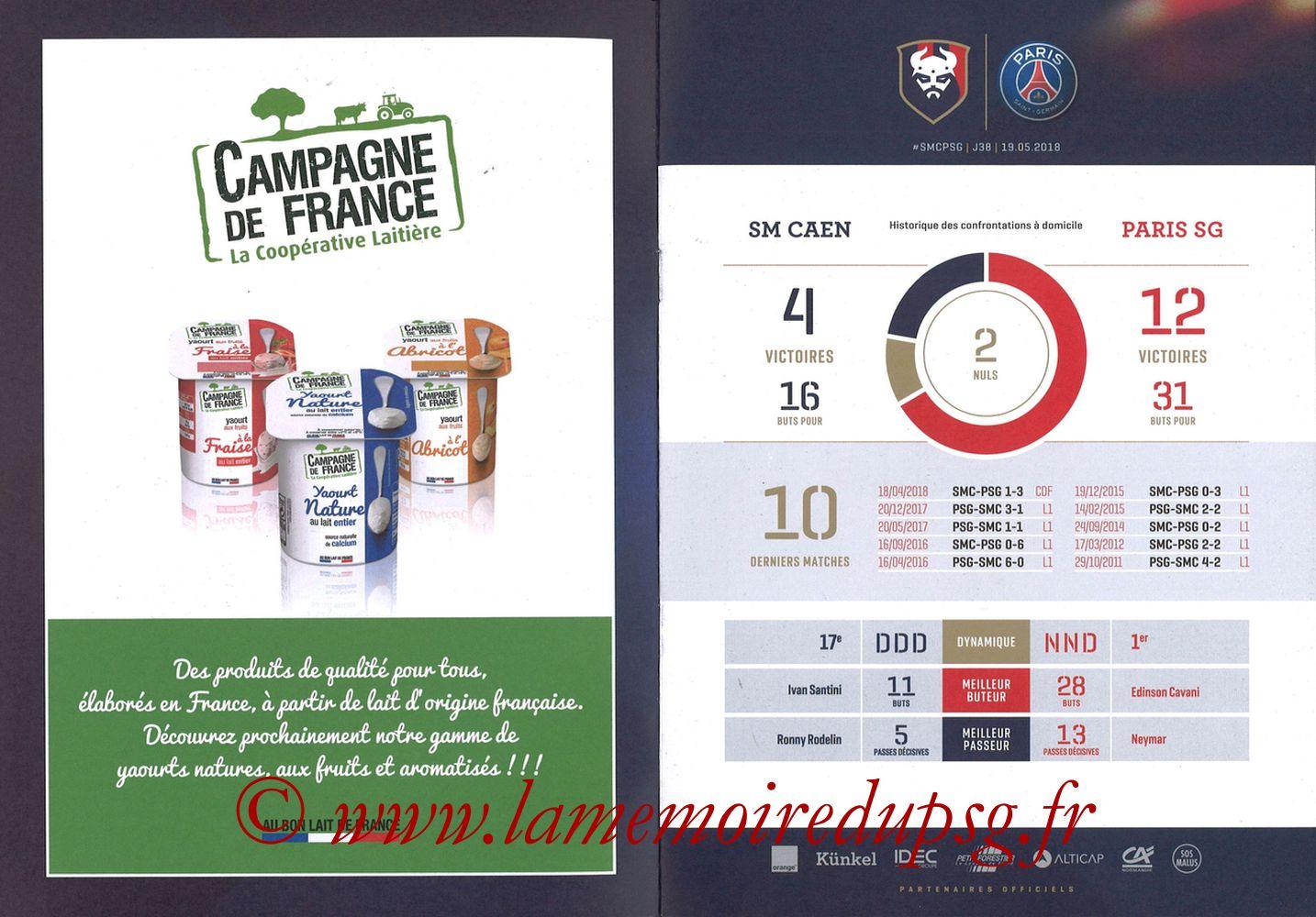 2018-05-19  Caen-PSG (38ème L1, Programme officiel) - Pages 02 et 03