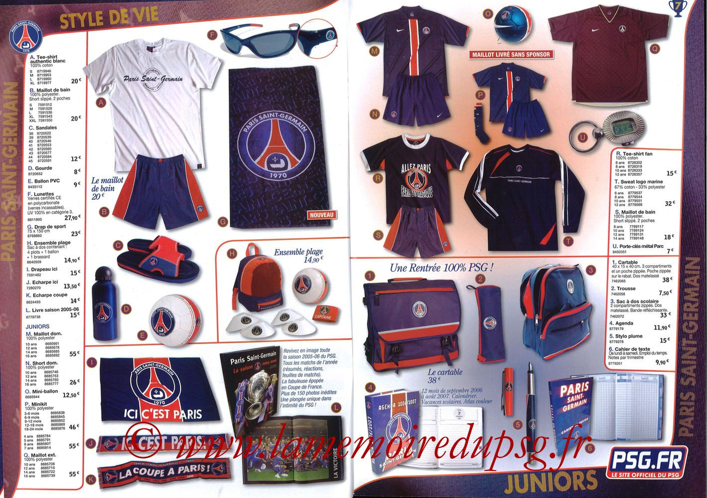 Catalogue PSG - 2006-07b - Pages 06 et 07