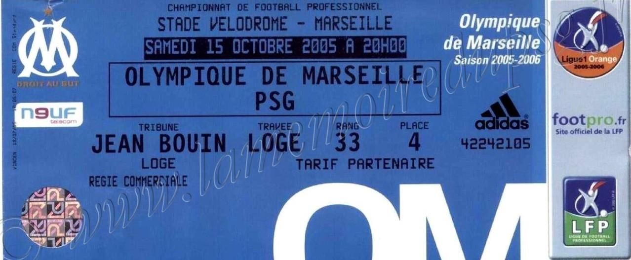 2005-10-16  Marseille-PSG (11ème L1)