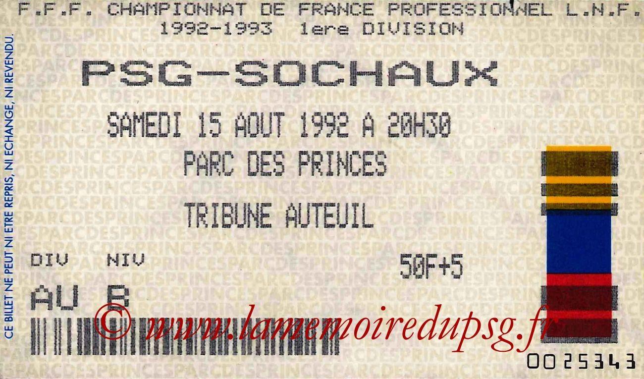 1992-08-15  PSG-Sochaux (2ème D1)