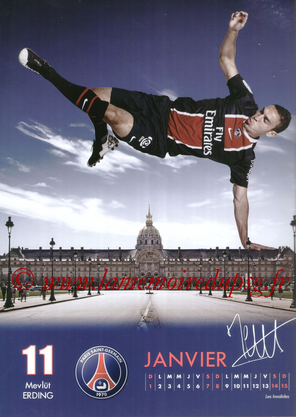 Calendrier PSG 2012 - Page 01 - Mevlut ERDING