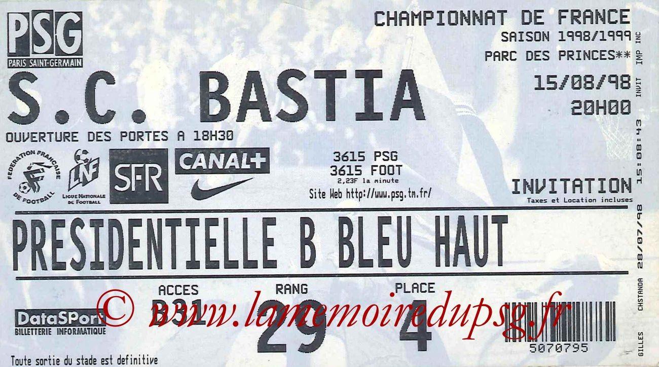 1998-08-15  PSG-Bastia (2ème D1)