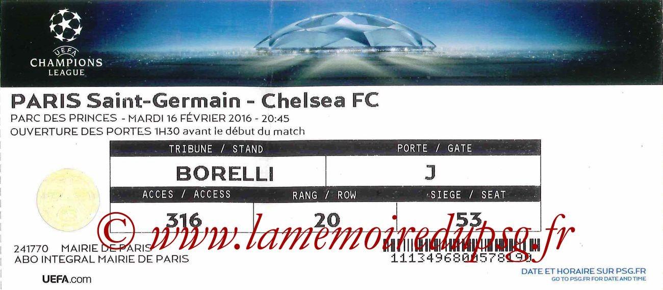 2016-02-17  PSG-Chelsea (8ème Aller C1)