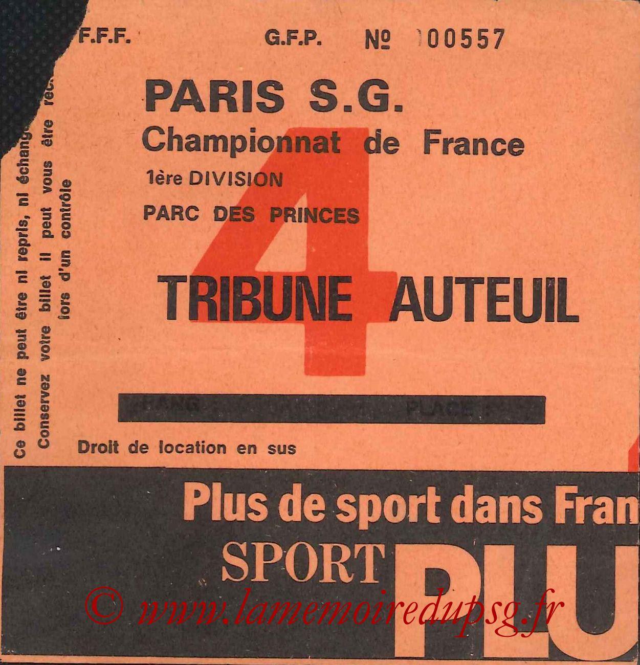 1976-10-02  PSG-Saint Etienne (9ème D1, Sans nom N° 4)