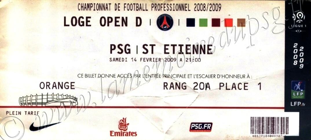 2009-02-14  PSG-Saint Etienne (24ème L1, Loge open)