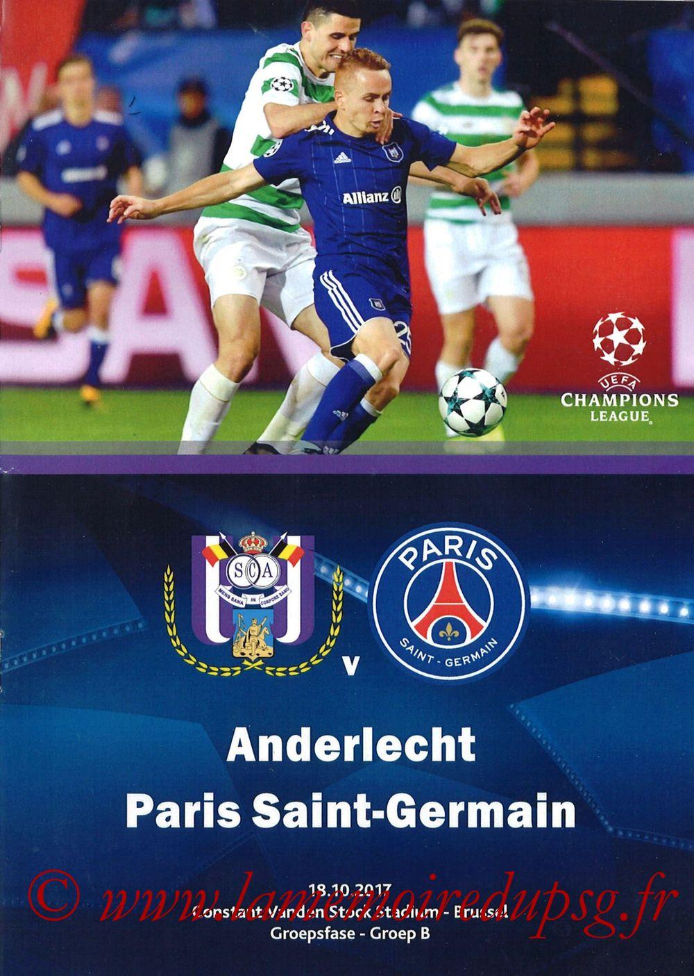 2017-10-18  Anderlecht-PSG (3ème Poule C1, Programme pirate)