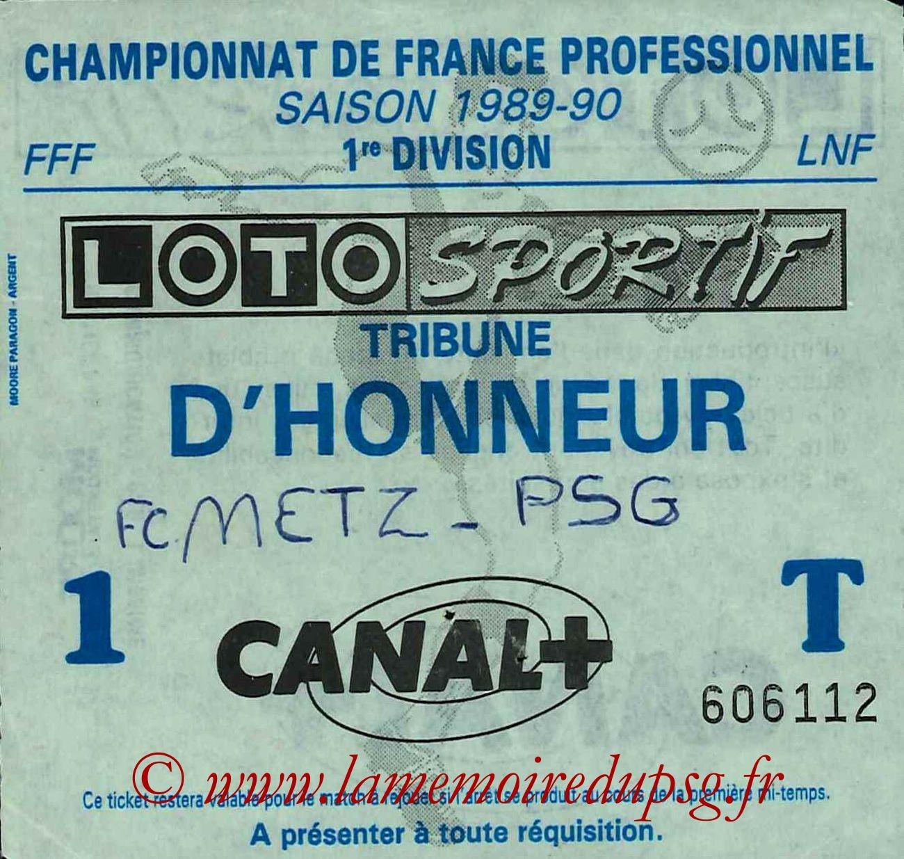 1989-11-25  Metz-PSG (20ème D1,Sans nom)