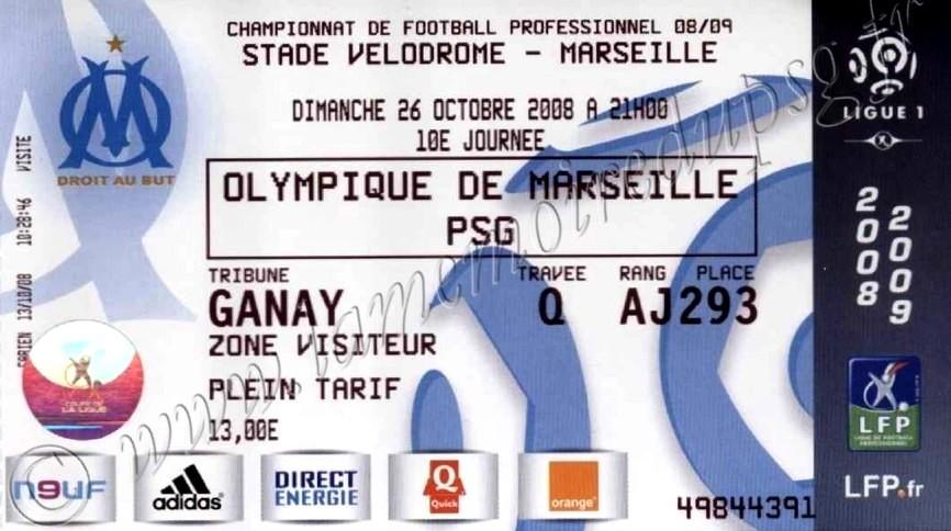 2008-10-26  Marseille-PSG (10ème L1)