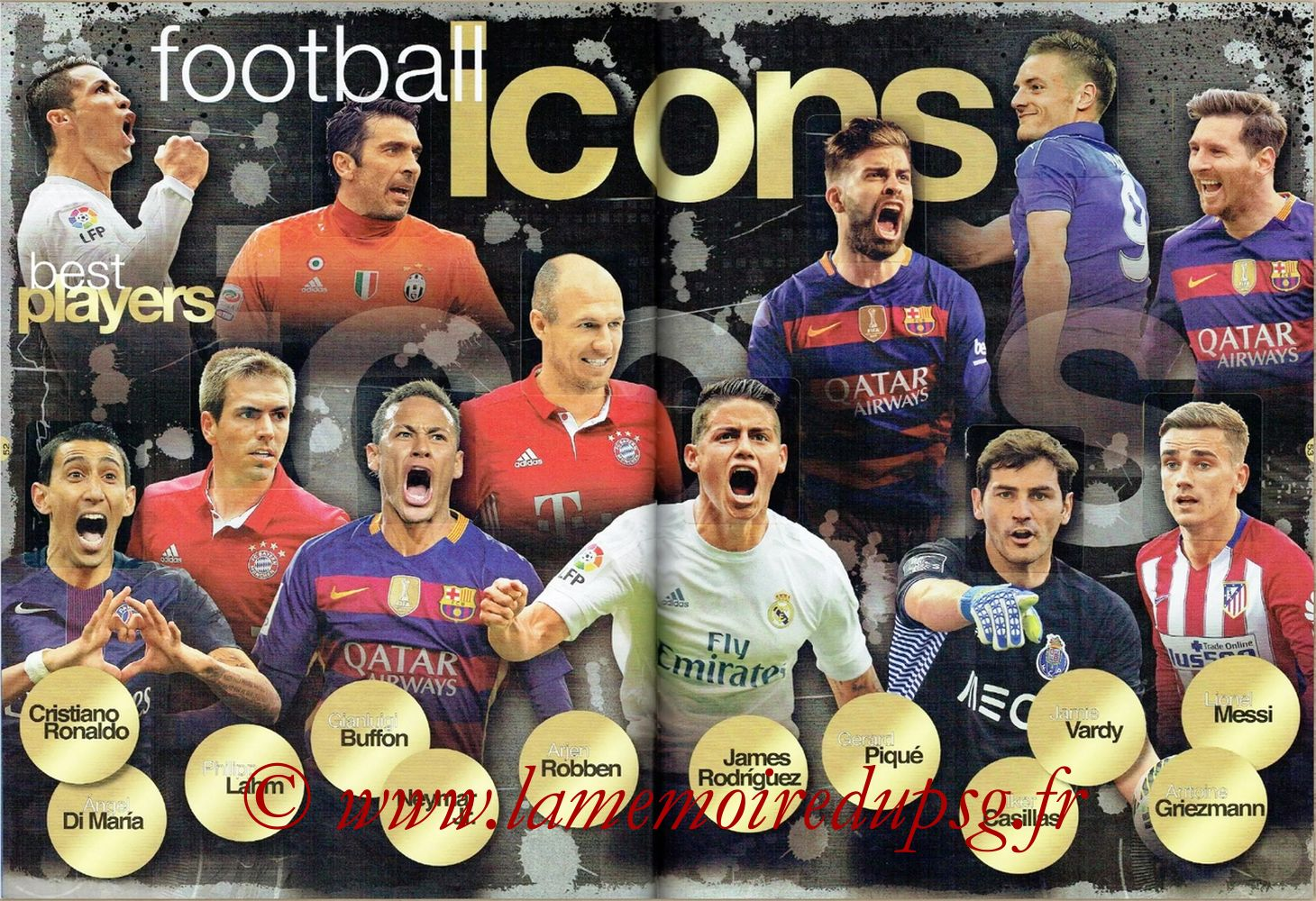 2016-17 - Panini FIFA 365 Stickers - Pages 52 et 53 - Football Icons