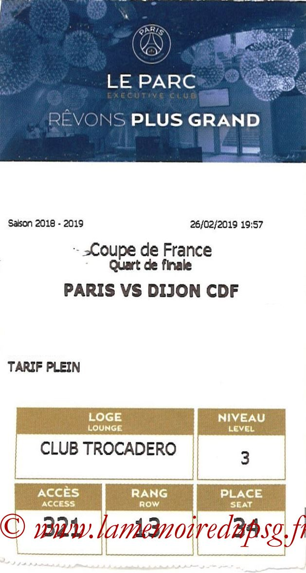 2019-02-26  PSG-Dijon (Quart CF, E-ticket Executive club)