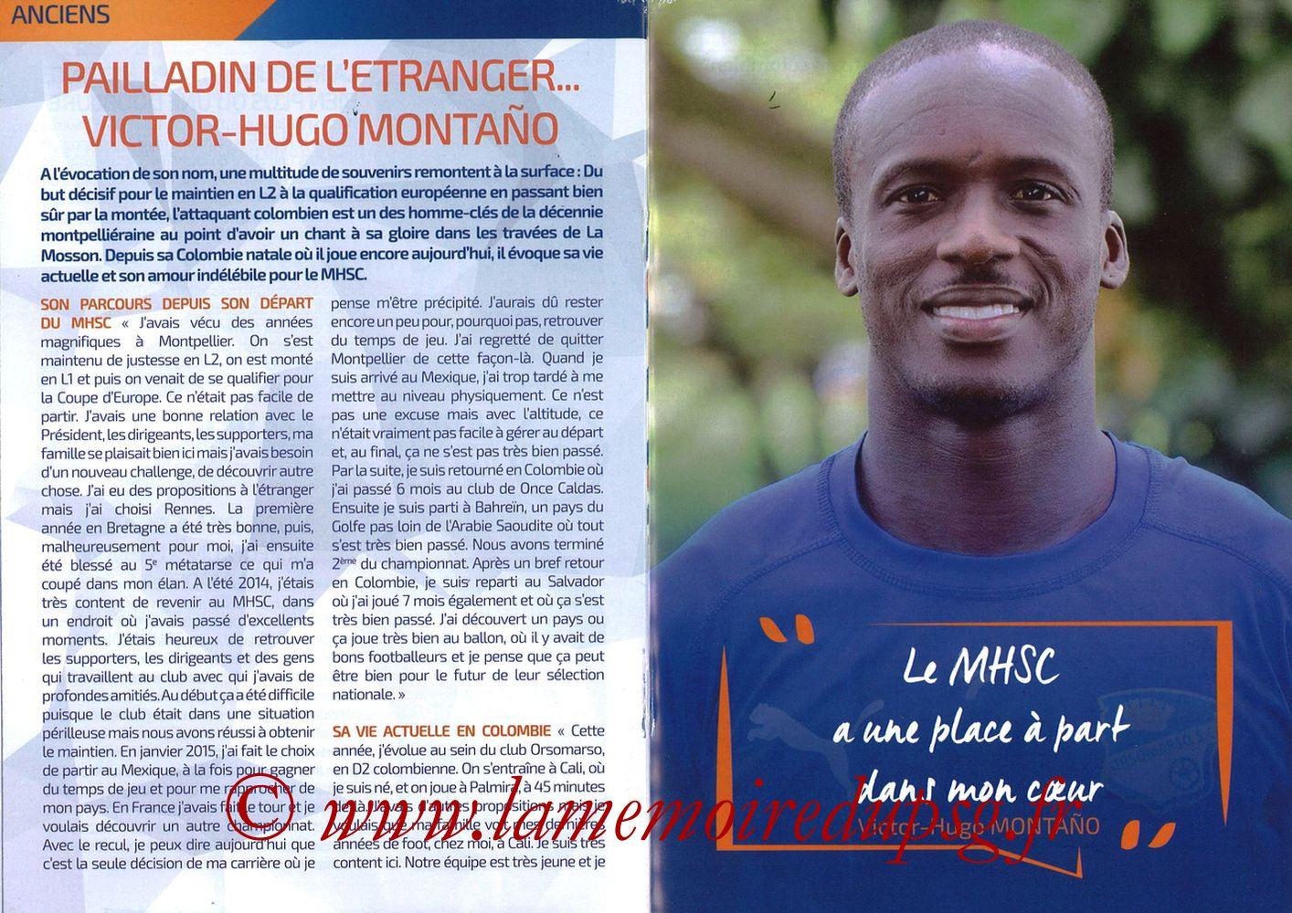 2019-04-30  Montpellier-PSG (34ème L1, L'Echo de la Mosson N°17) - Pages 18 et 19