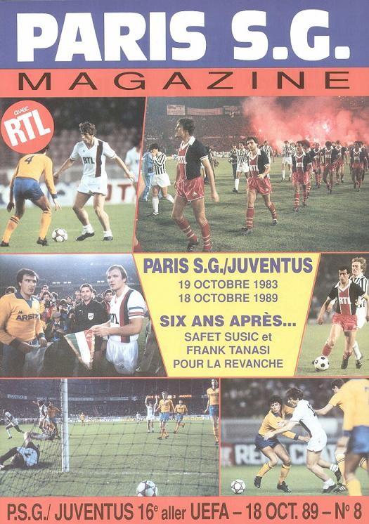 1989-10-18  PSG-Juventus Turin (16ème Finale Aller C3, Paris SG Magazine N°8)