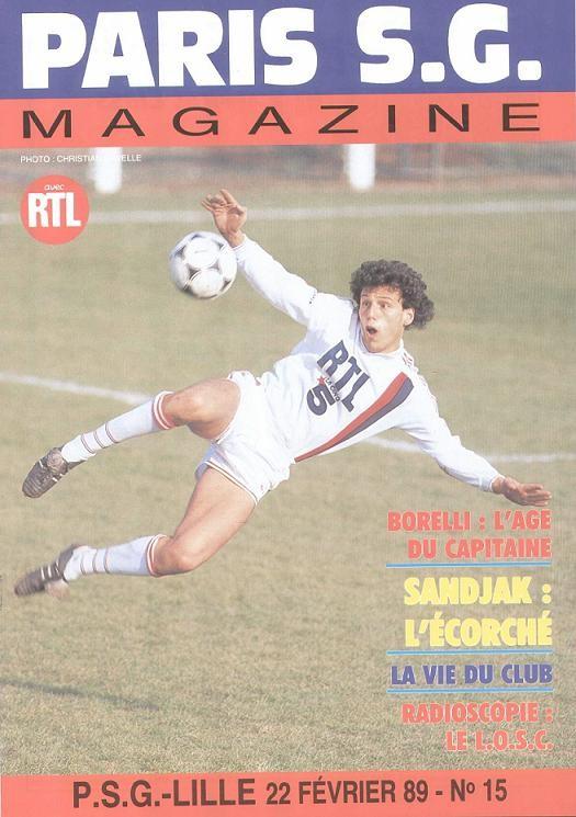 1989-02-22  PSG-Lille (28ème D1, Paris SG Magazine N°15)