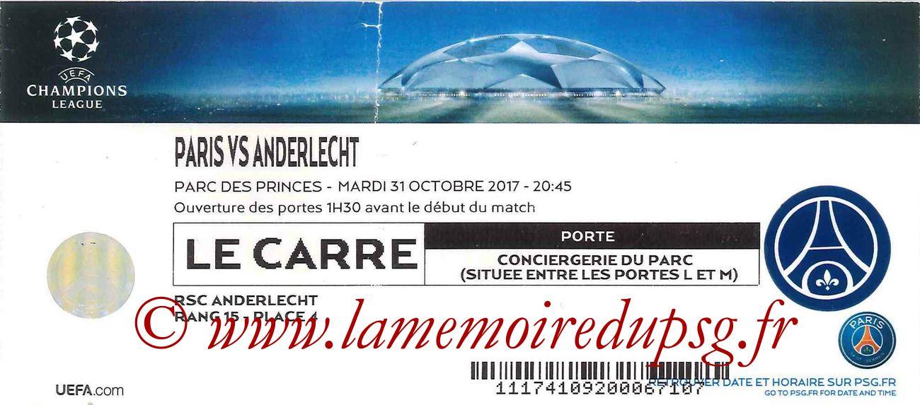 2017-10-31  PSG-Anderlecht (4ème C1, Le Carré)