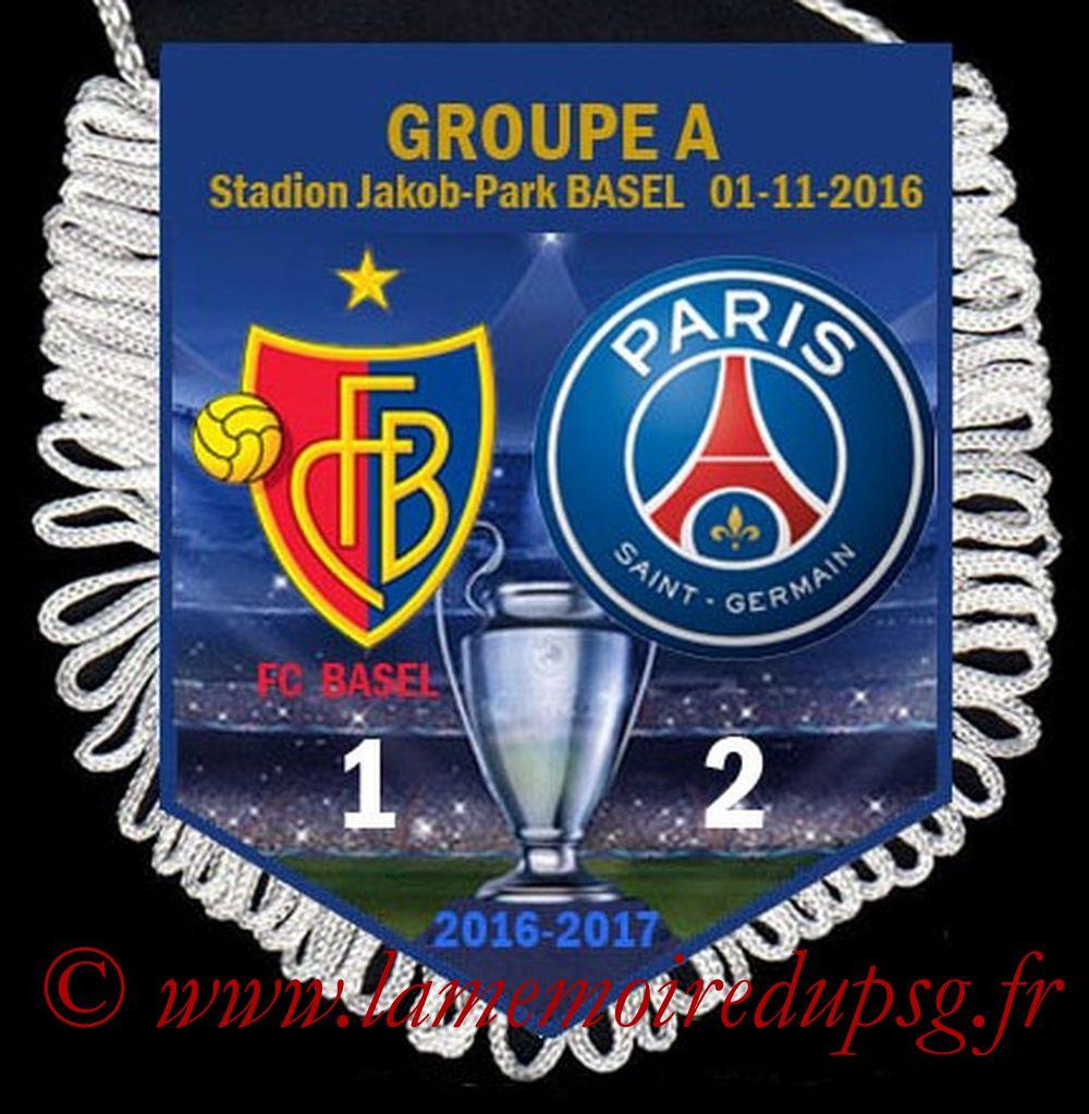 2016-11-01  Bâle-PSG (4ème C1)