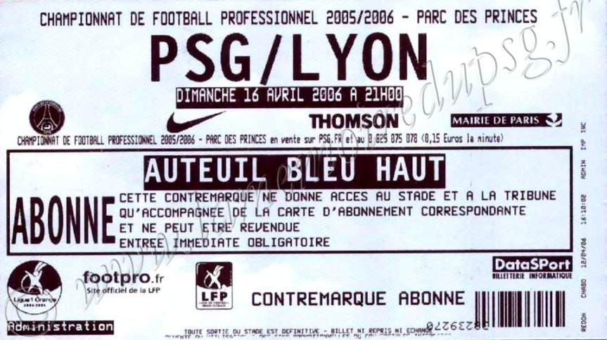2006-04-16  PSG-Lyon (35ème L1)