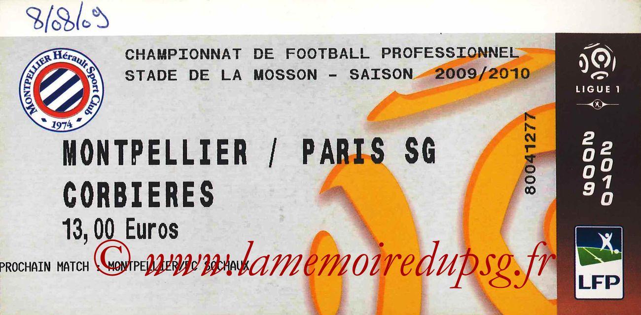 2009-08-08  Montpellier-PSG (1ère L1)