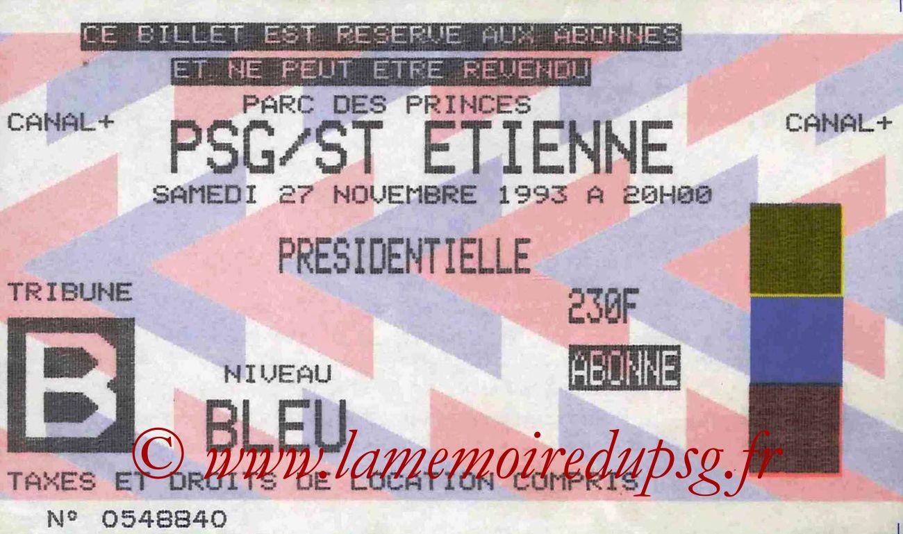 1993-11-27  PSG-Saint Etienne (19ème D1)
