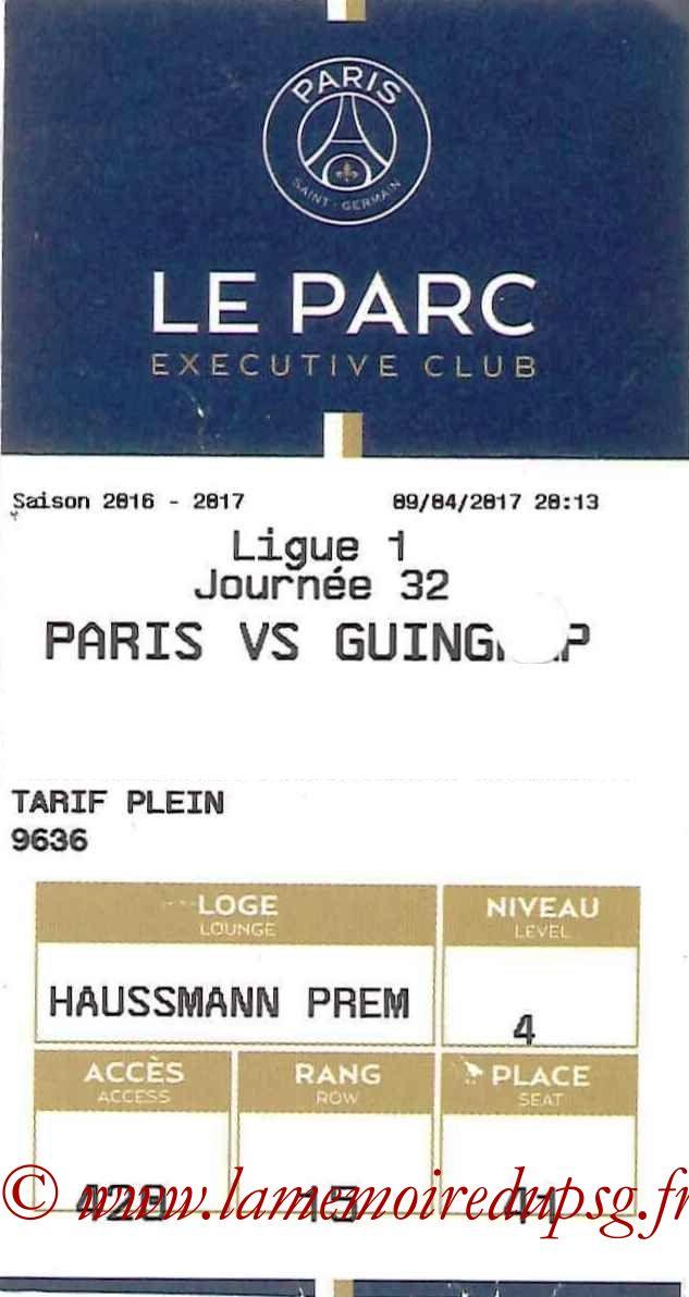 2017-04-09  PSG-Guingamp (32ème L1, E-ticket Executive club)