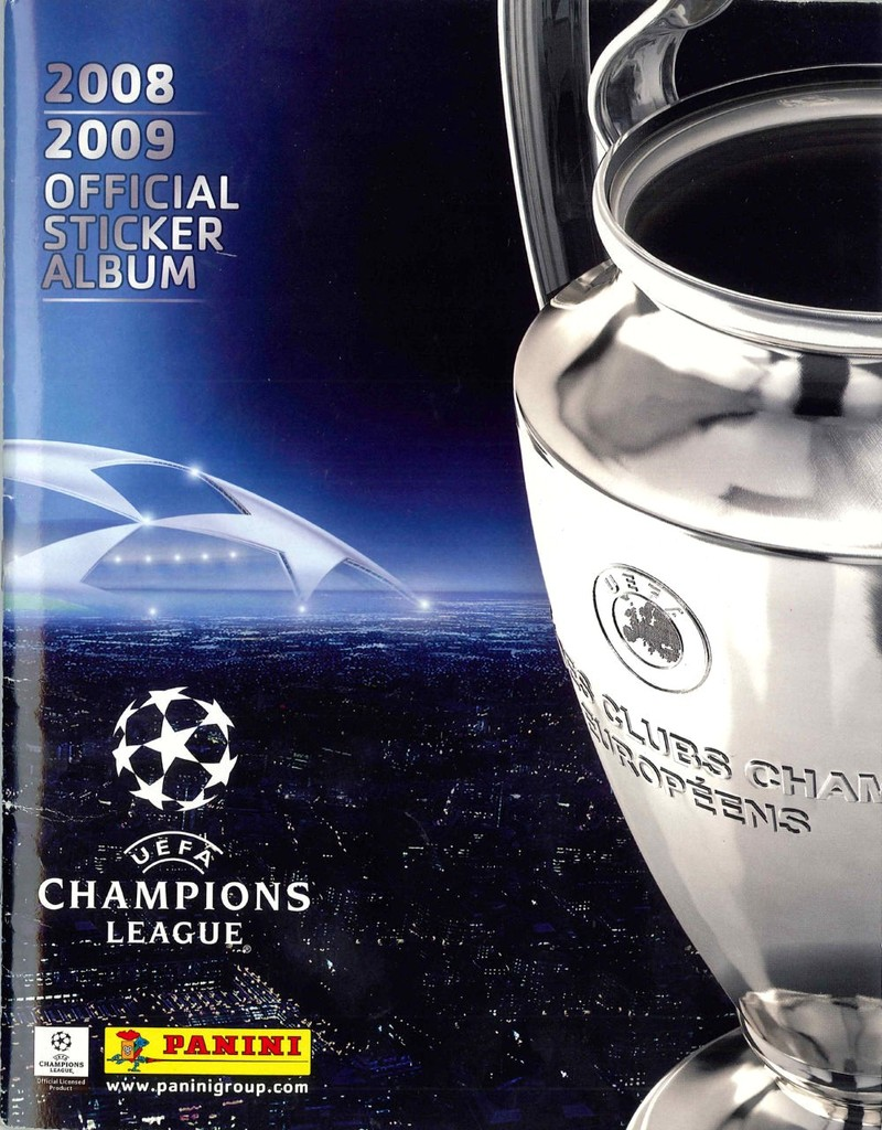 2008-09 - Panini Champions League - Couverture