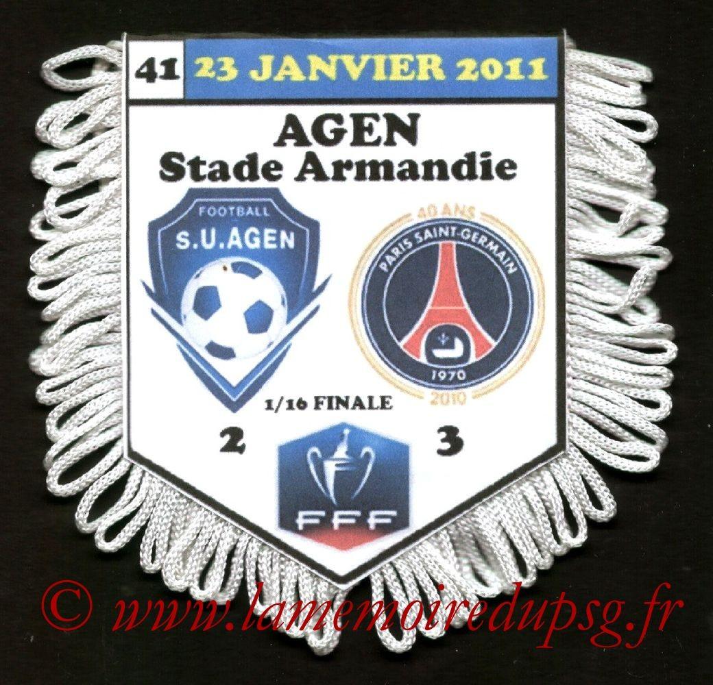 2011-01-23  Agen-PSG (16ème Finale CF)