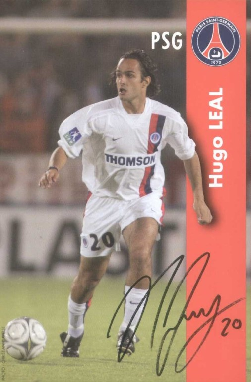 HUGO LEAL blanc autographe  02-03