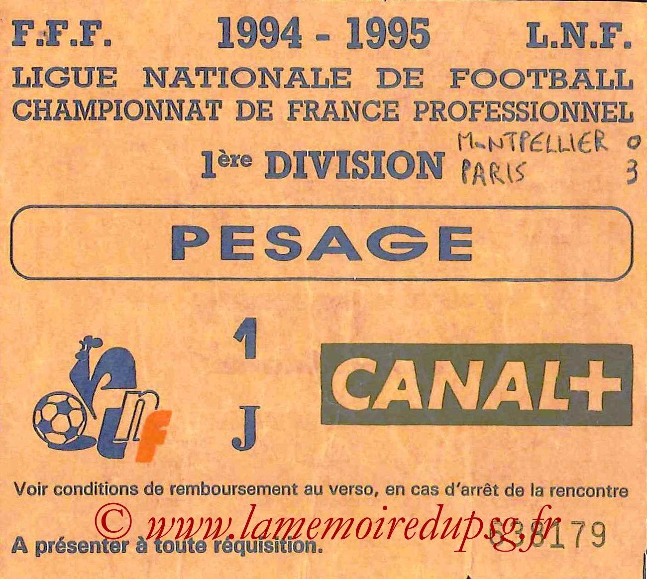 1995-04-14  Montpellier-PSG (33ème D1, Sans nom)