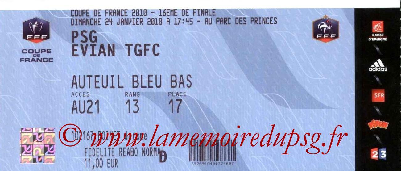 2010-01-24  PSG-Evian TGFC (16ème Finale CF)