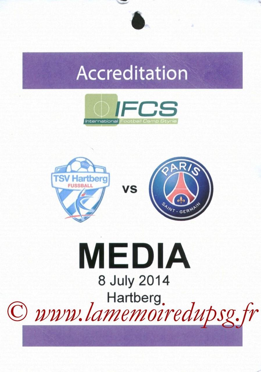 2014-07-08  Hartberg-PSG (Amical à Hartberg, Presse)