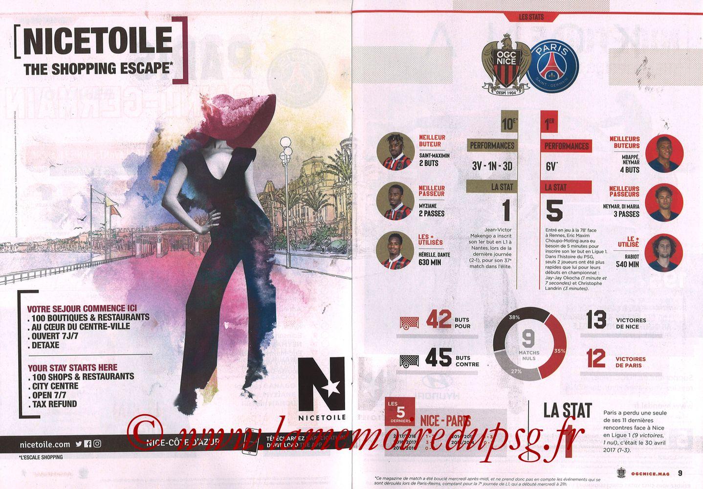 2018-09-29  Nice-PSG (8ème L1, Ogcnice.Mag N°313) - Pages 08 et 09