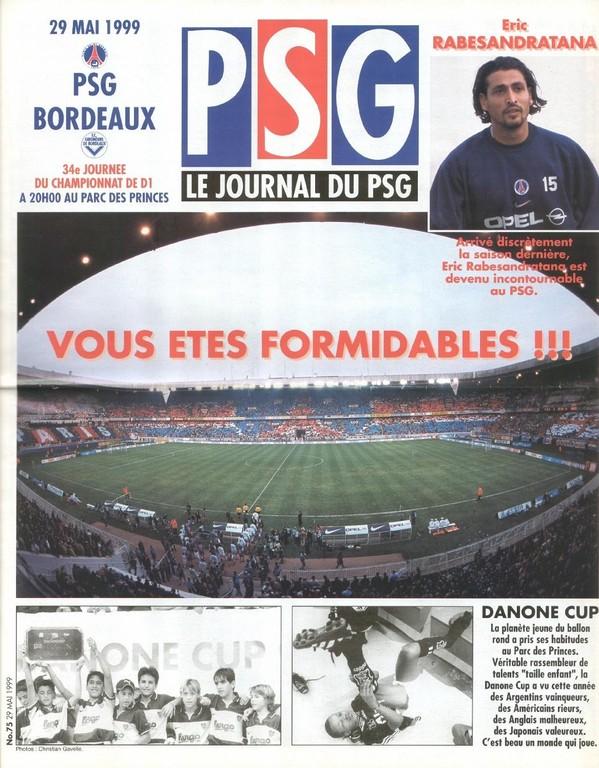 1999-05-29  PSG-Bordeaux (34ème D1, Le Journal du PSG N°75)