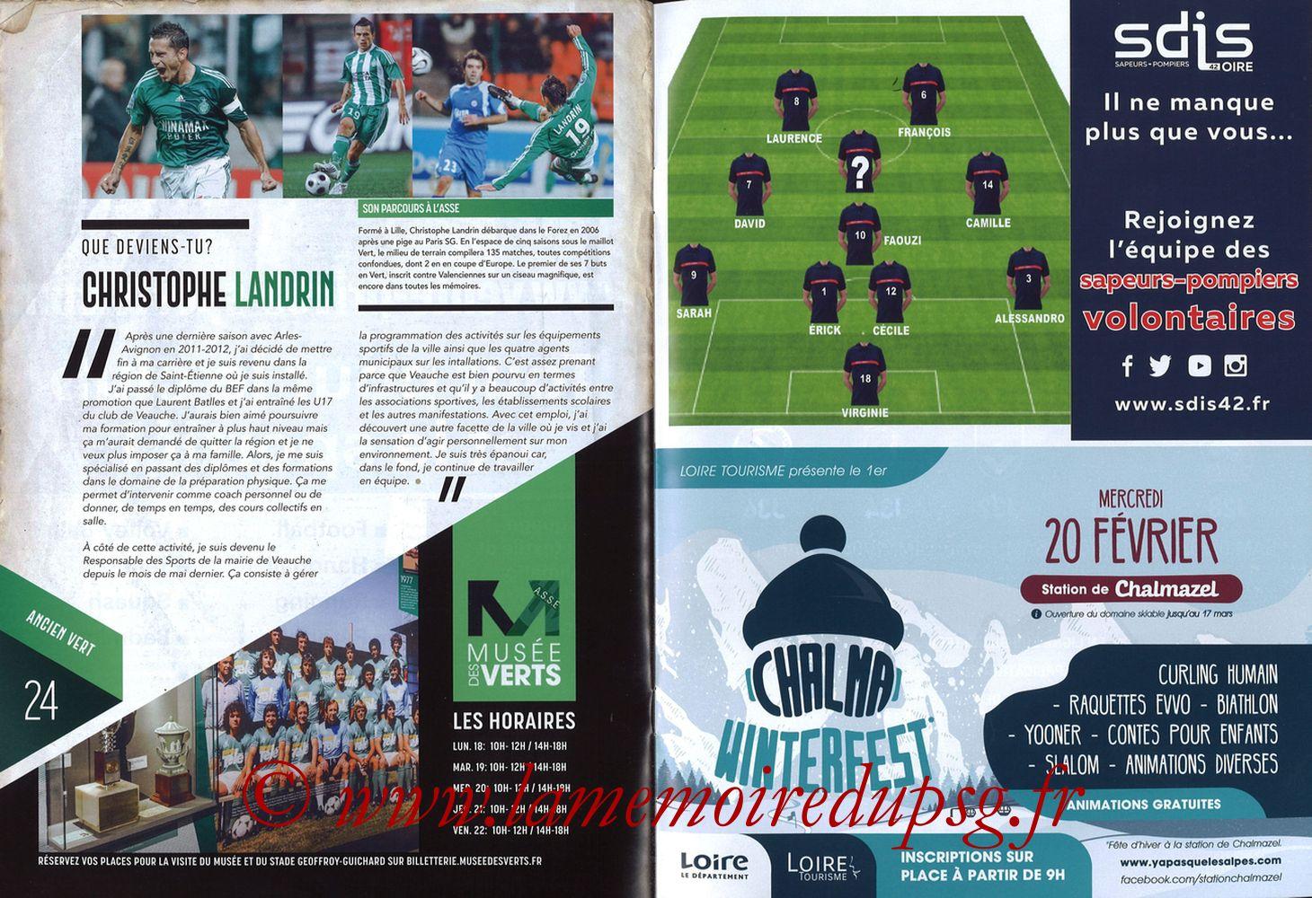 2019-02-17  Saint Etienne-PSG (25ème L1, Maillot Vert N° 13) - Pages 24 et 25