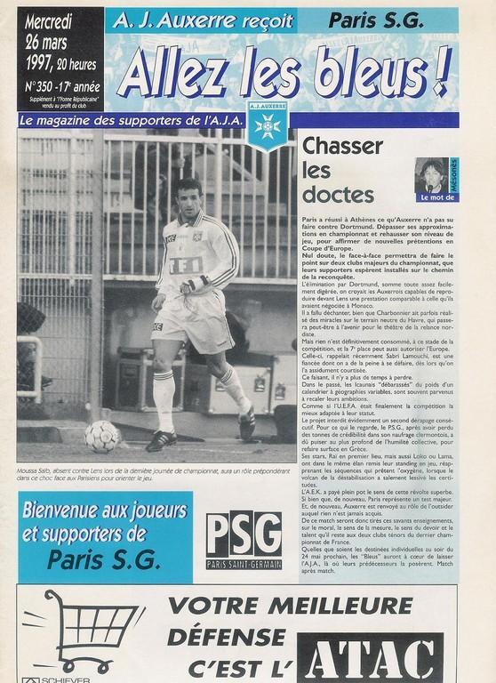 1997-03-26  Auxerre-PSG (31ème D1, Allez les Bleus N°350)
