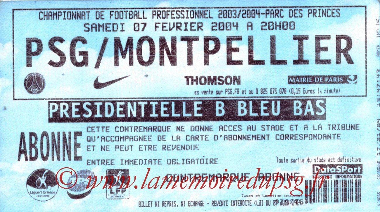 2004-02-07   PSG-Montpellier  (23ème L1)
