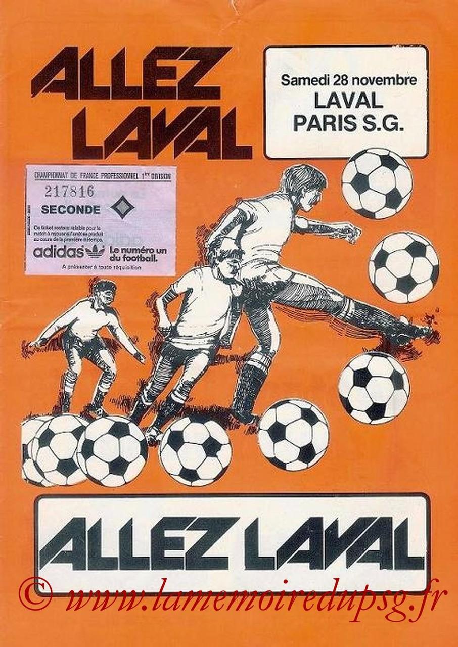 1981-11-28  Laval-PSG (20ème D1, Allez Laval)