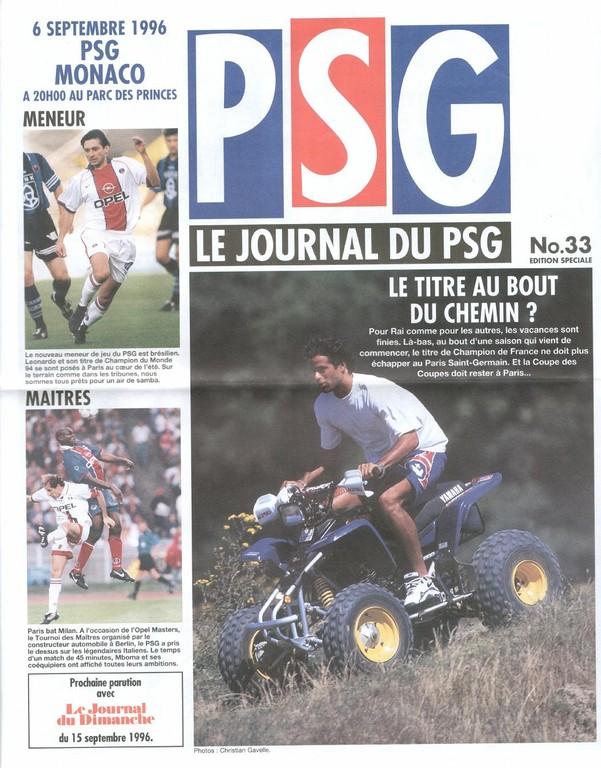 1996-09-06  PSG-Monaco (6ème D1, Le Journal du PSG N°33)