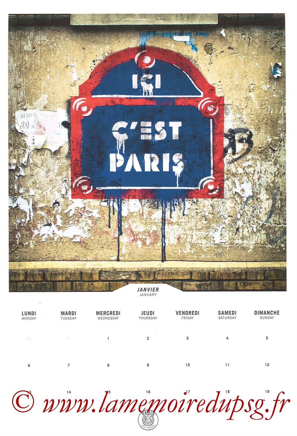 Calendrier PSG 2020 - Page 01 - Ici c'est Paris