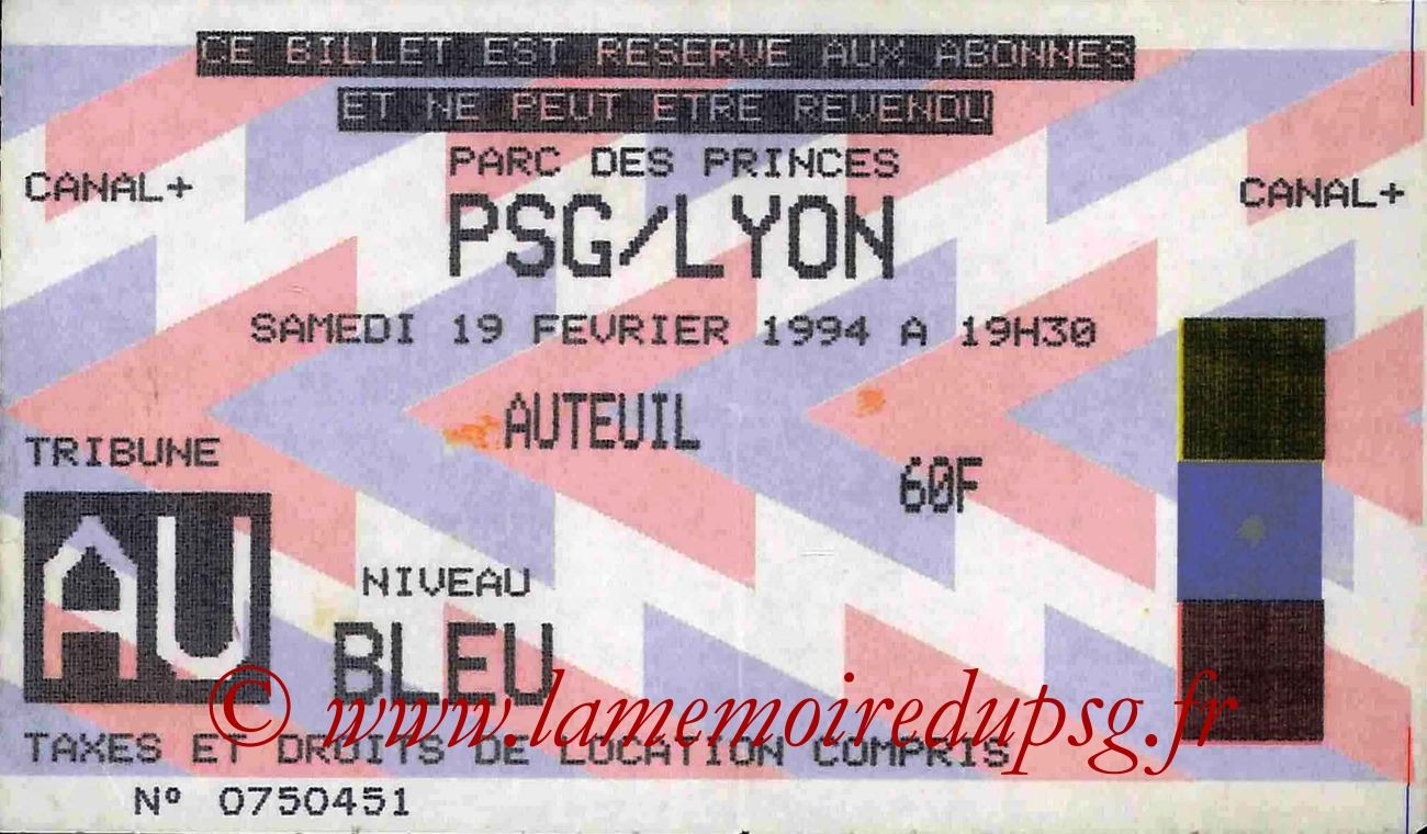 1994-02-19  PSG-Lyon (27ème D1)