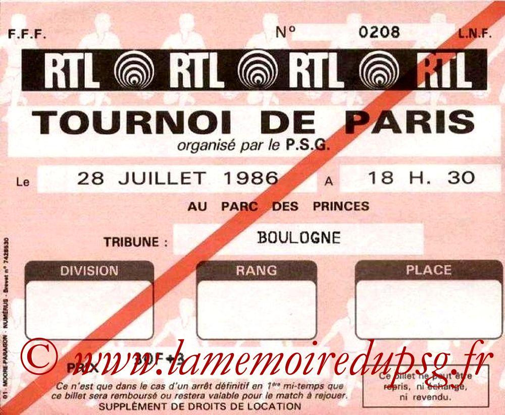 1986-07-28  PSG-Steaua Bucarest (Demi finale tournoi de Paris)