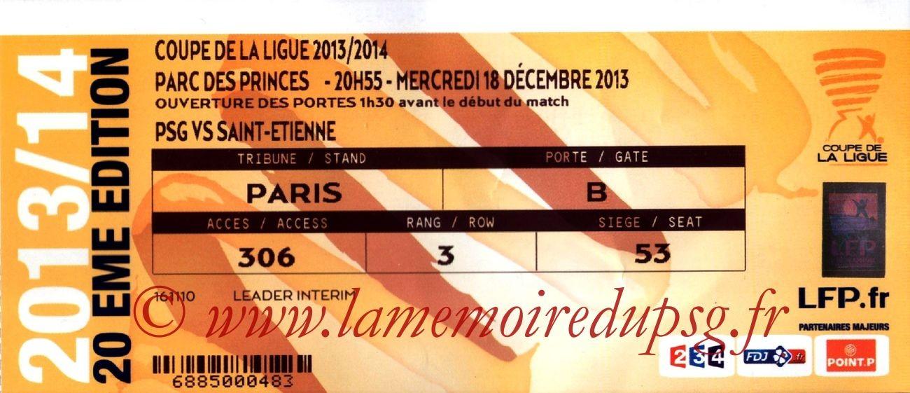 2013-12-18  PSG-Saint-Etienne (16ème Finale CL)