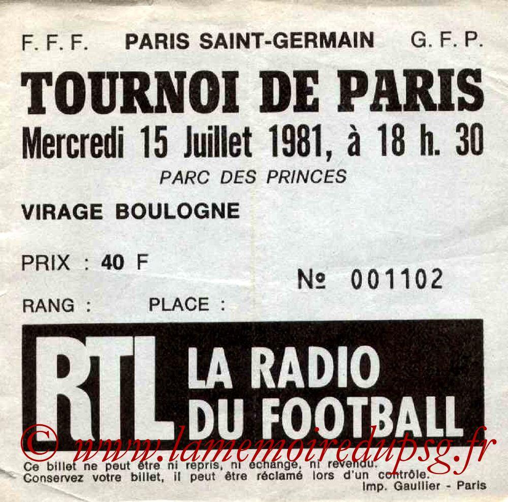1981-07-15  PSG-Vasco de Gama (Demi-Finale Tournoi de Paris)