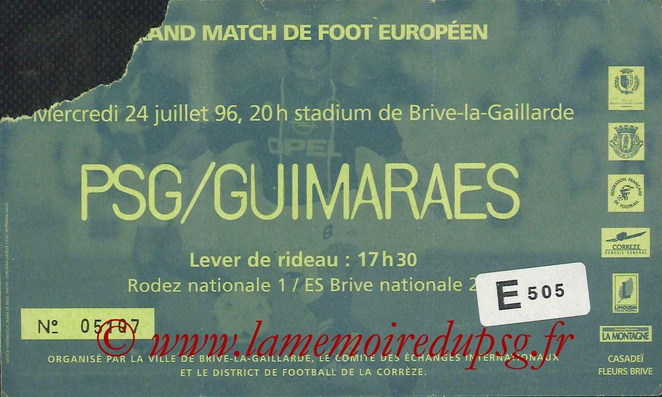 1996-07-24  PSG-Guimaraes (Amical à Brive)
