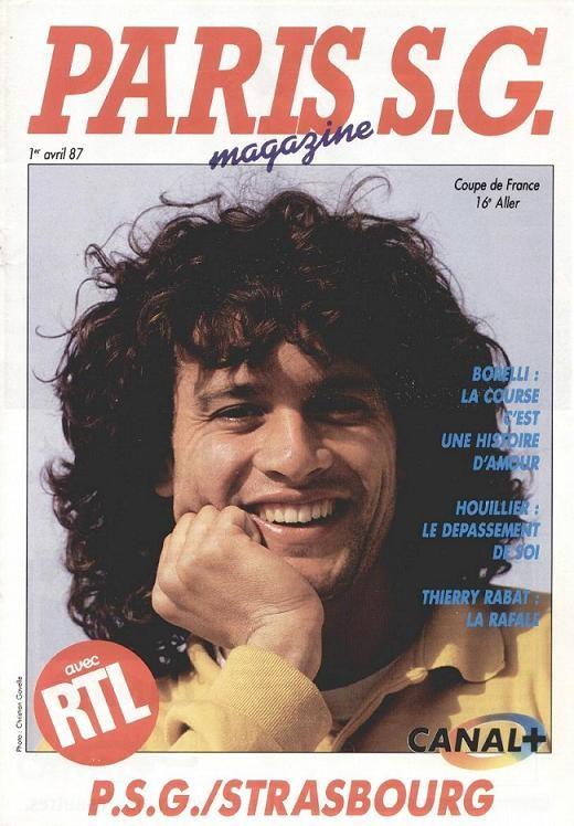 1987-04-01  PSG-Strasbourg (16ème Finale Aller CF, Paris SG Magazine N°17)