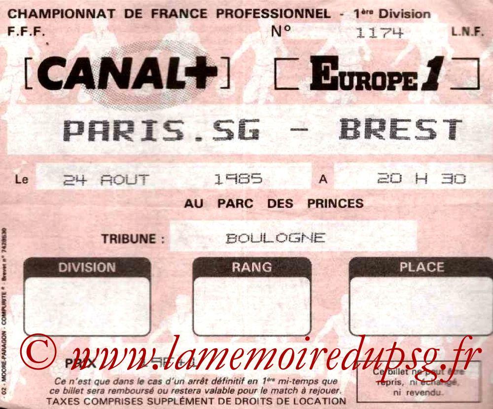 1985-08-24  PSG-Brest (8ème D1)
