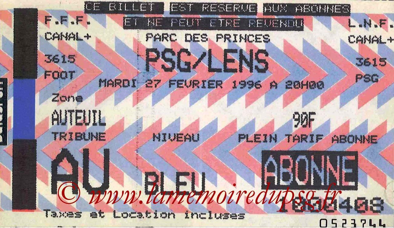1996-02-27  PSG-Lens (29ème,bis)
